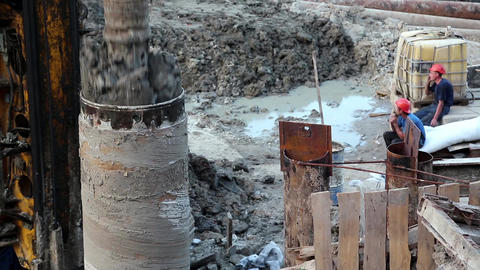 Drilling wells for bored piles Footage