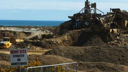New Zealand Gold Mine stock footage