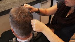 men's haircut Footage