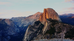 half dome from glacier point Live Action
