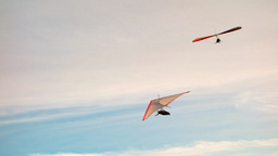 Hang Gliders stock footage