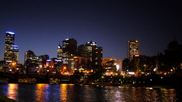 melbourne night skyline Footage