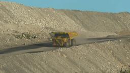 two mining trucks Footage
