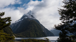 mitre peak clouds time lapse Footage