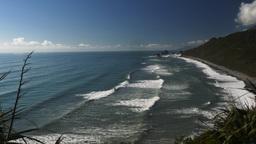 New Zealand West Coast Beach stock footage