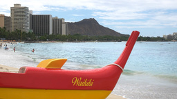 outrigger canoe close up Footage