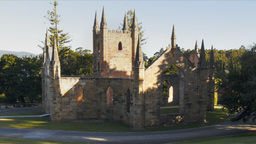 church ruins Footage