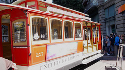 san francisco cable car time lapse Footage