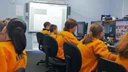 School Computer Classroom stock footage