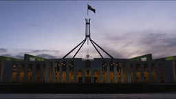 Parliament House Canberra Time Lapse stock footage
