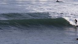 surfer cutting back Footage