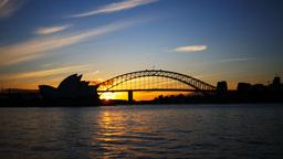 sydney opera house at sunset Footage