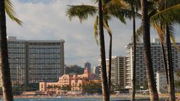 Royal Hawaiian Hotel stock footage