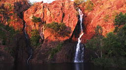 wangi waterfalls sunset Footage