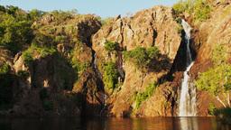 wangi waterfalls litchfield national park pan Footage