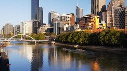yarra river morning Footage