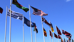 World Flags-2 stock footage