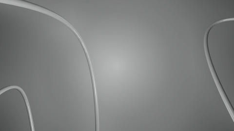 Monochrome Cables Twisted stock footage