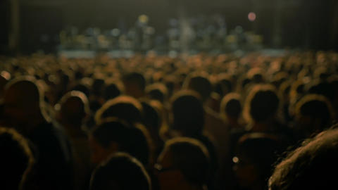 Crowd in a concert Footage