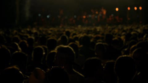 Out of focus crowd in a concert 4k UHD Footage