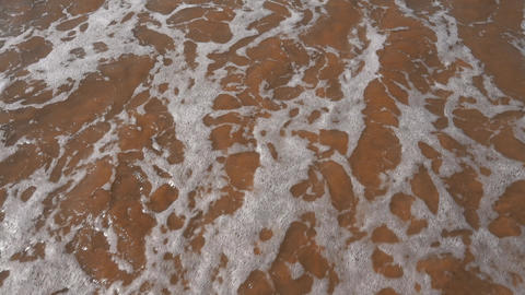 Ocean Waves Incoming on Sand Beach Footage