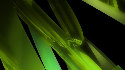 green glossy chrystal with alpha Animation