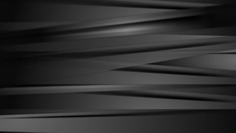 Dark black abstract striped video animation Animation