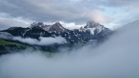 time lapse fog clouds over prags valley dolomites 4k 11677 Footage