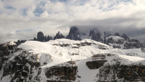 Time Lapse Clouds Over Dolomites Summit Pan 11679 stock footage