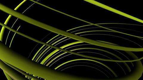 yellow line helix Animation