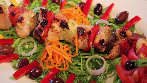 Chicken skewers with Vegetables Live Action