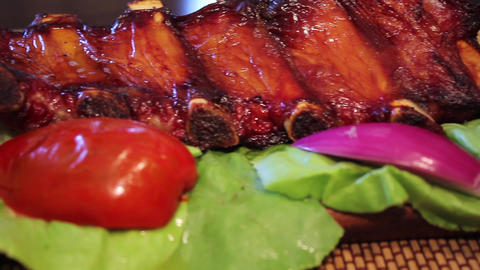 Spicy Baked Pork ribs Live Action