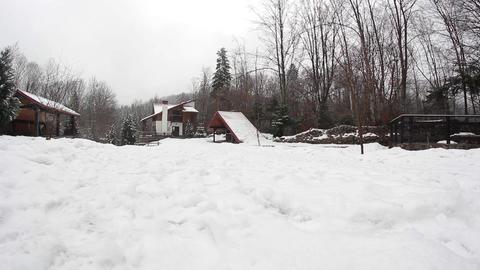 Winter Backyard stock footage