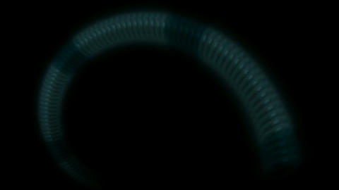 snake body and swirl metal chain tunnel hole in darkness Stock Video Footage