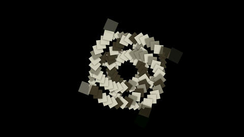 rotation square card paper tunnel hole,math geometry... Stock Video Footage