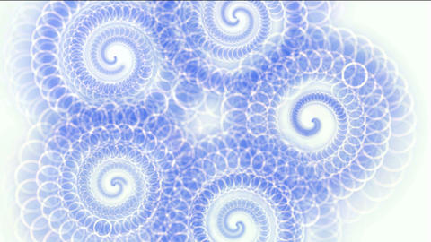 swirl flower pattern,circle shaped chains spring,flow... Stock Video Footage