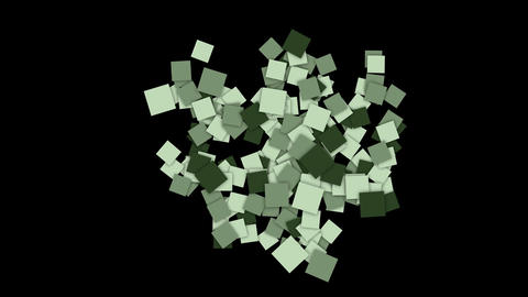 square paper cards and mosaics wallpaper Stock Video Footage