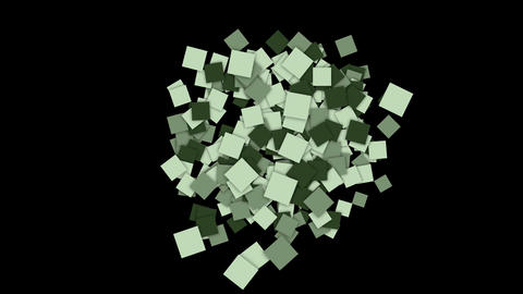 square paper cards and mosaics wallpaper, Stock Animation