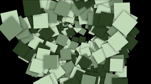 flowing square paper cards and mosaics shaped tunnel hole,computer tech web background Animation
