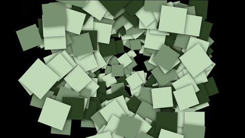 flowing square paper cards and mosaics shaped tunnel... Stock Video Footage