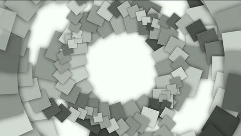 swirl square paper shaped tunnel hole,mechanic gear... Stock Video Footage