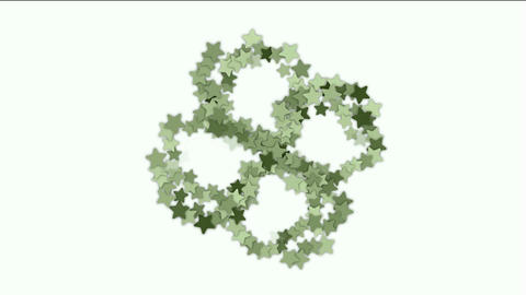 stars shaped flower fancy pattern Stock Video Footage