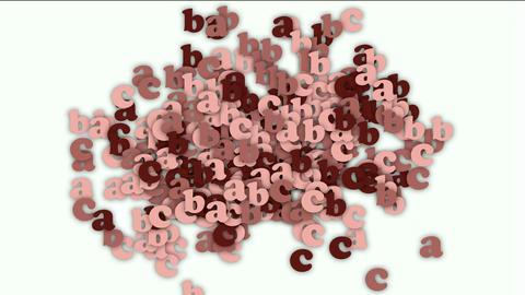 alphabet abc,cartoon letter paper card matrix... Stock Video Footage