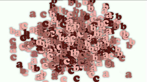 alphabet abc,cartoon letter paper card matrix background,computer screen Animation