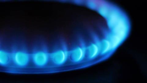 gas flame closeup Stock Video Footage