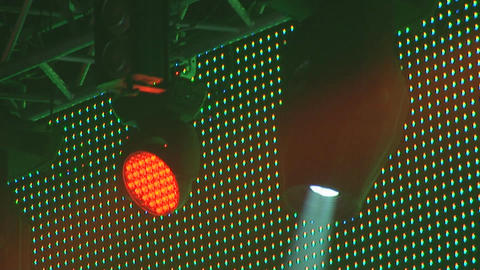 concert lights 2 Stock Video Footage