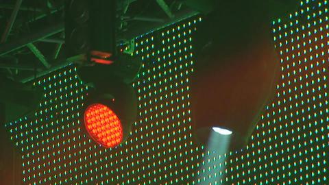 concert lights 2 Stock Video Footage