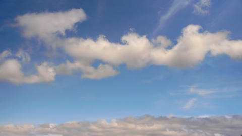 clouds timelapse 001 Stock Video Footage