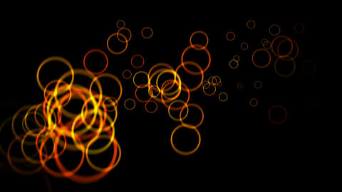 red flying bubble and round,halo light,disco neon,Flame aura Stock Video Footage