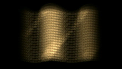 dazzling sunlight on golden metal plate,motion wave light Stock Video Footage
